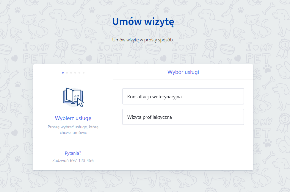 System umawiania wizyt dla weterynarza netwing.pl
